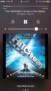Listening to the Hitchhiker's Guide to the Galaxy