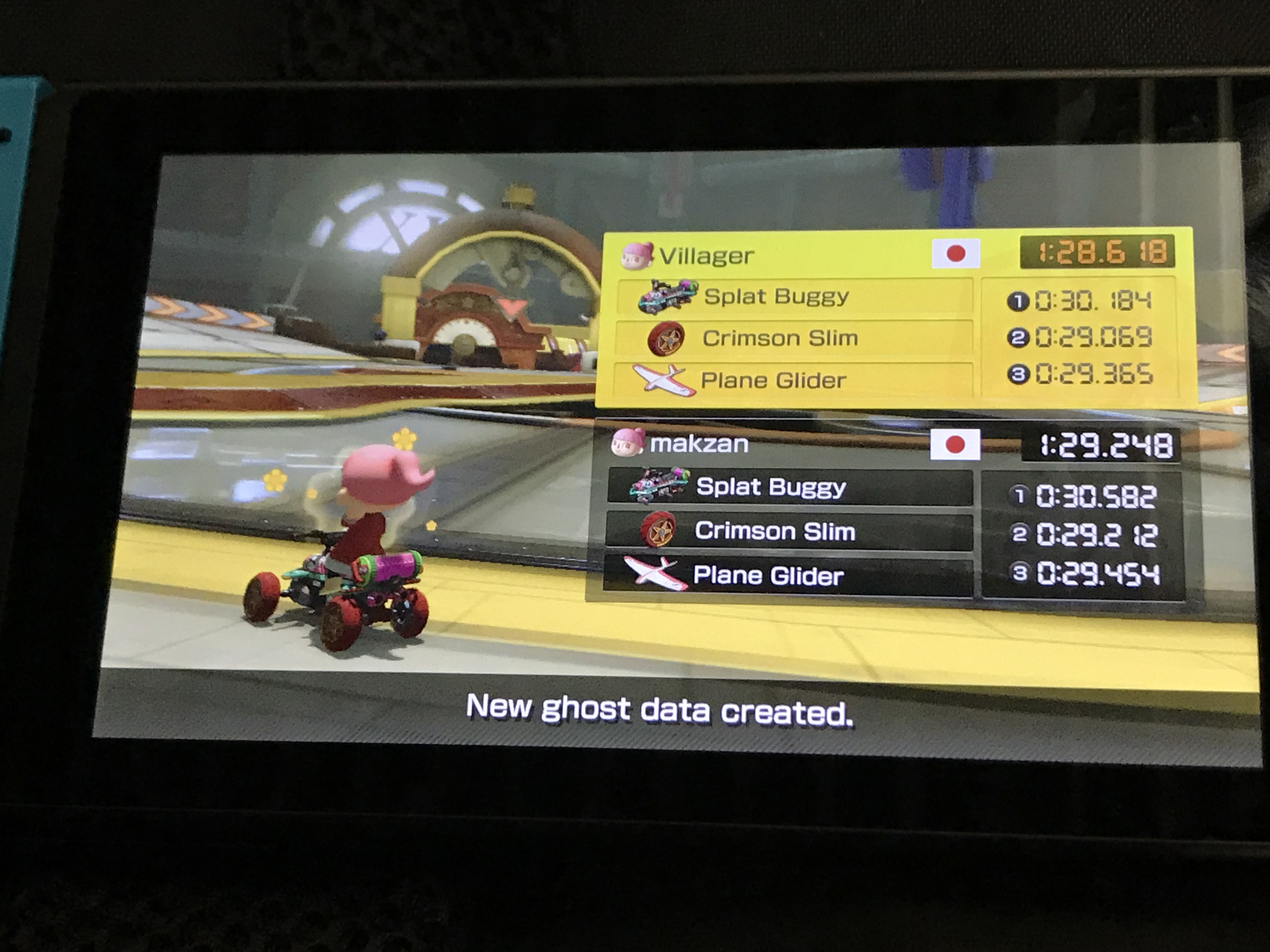 My new record in Mario Kart.