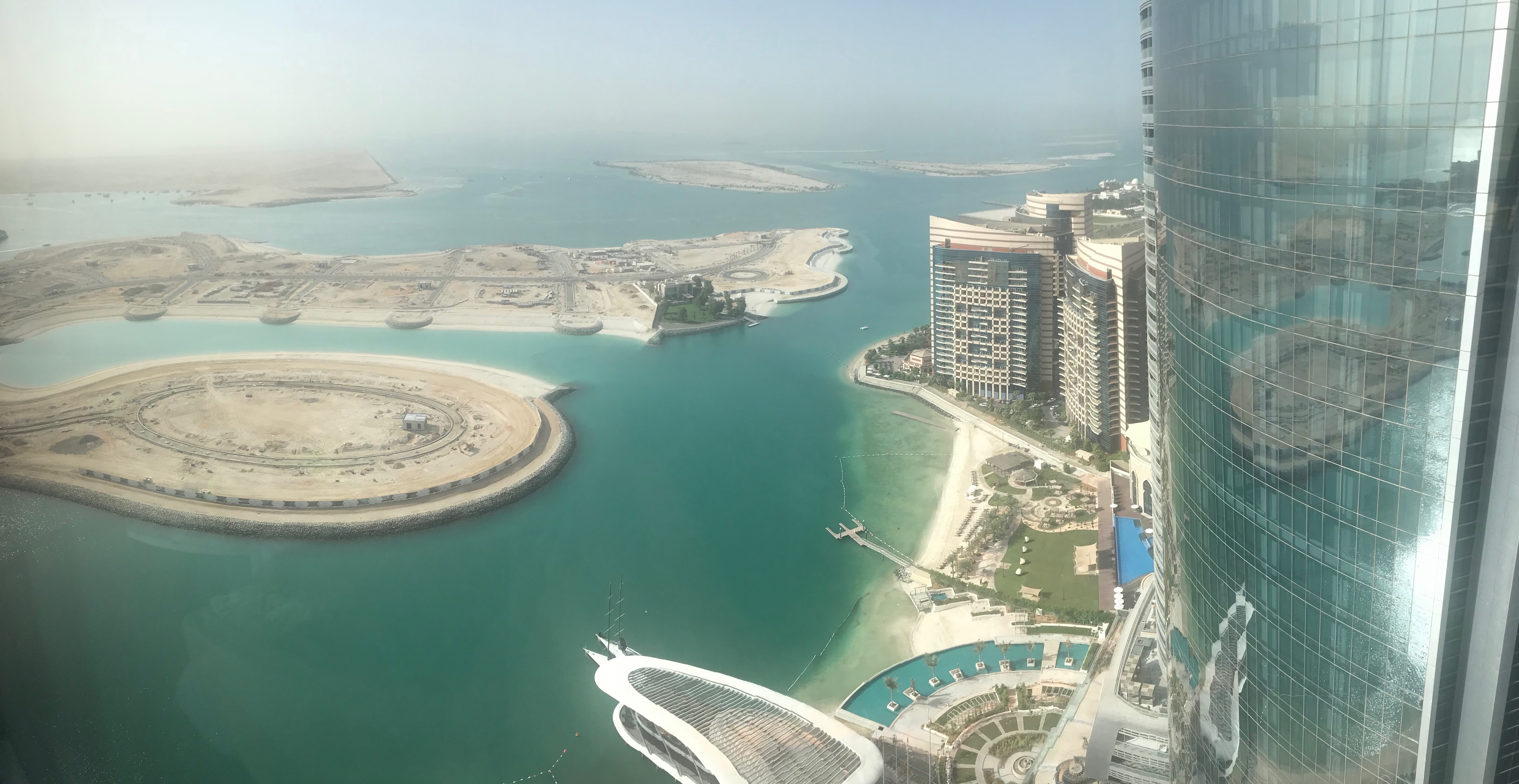 Nice view from my hotel in Abu Dhabi.
