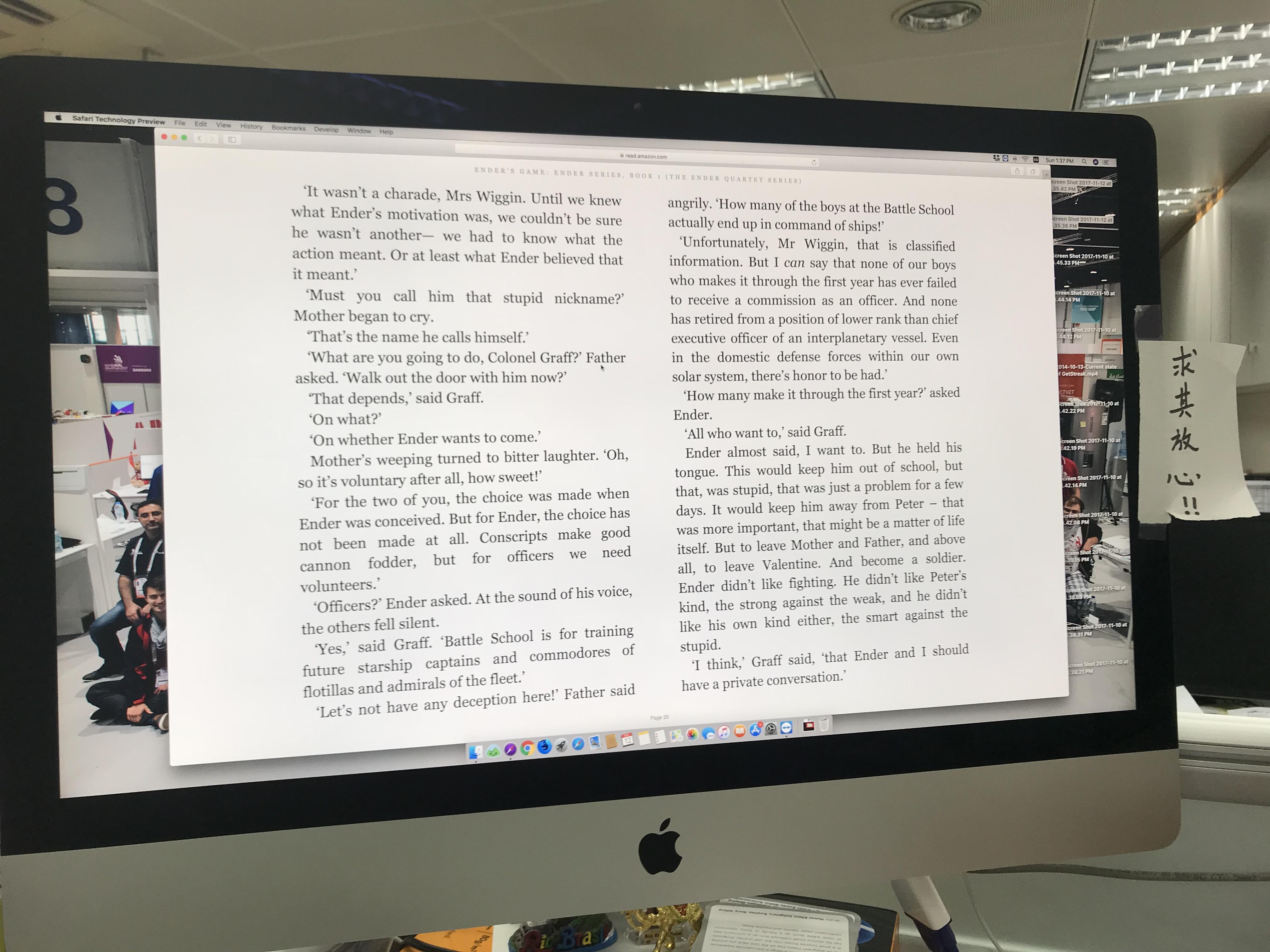 Reading Enders gameagain
