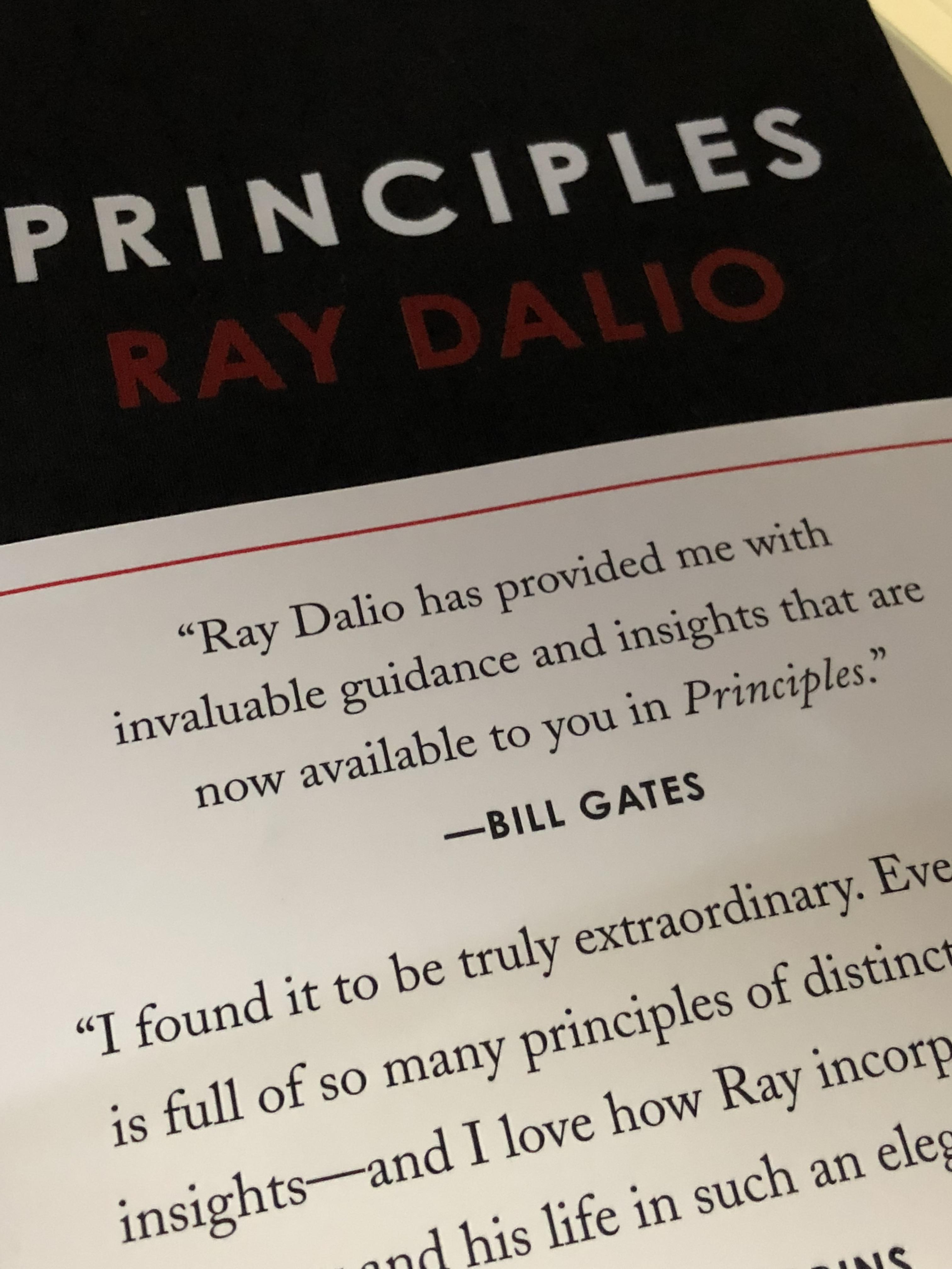 Next book to read:Principles.