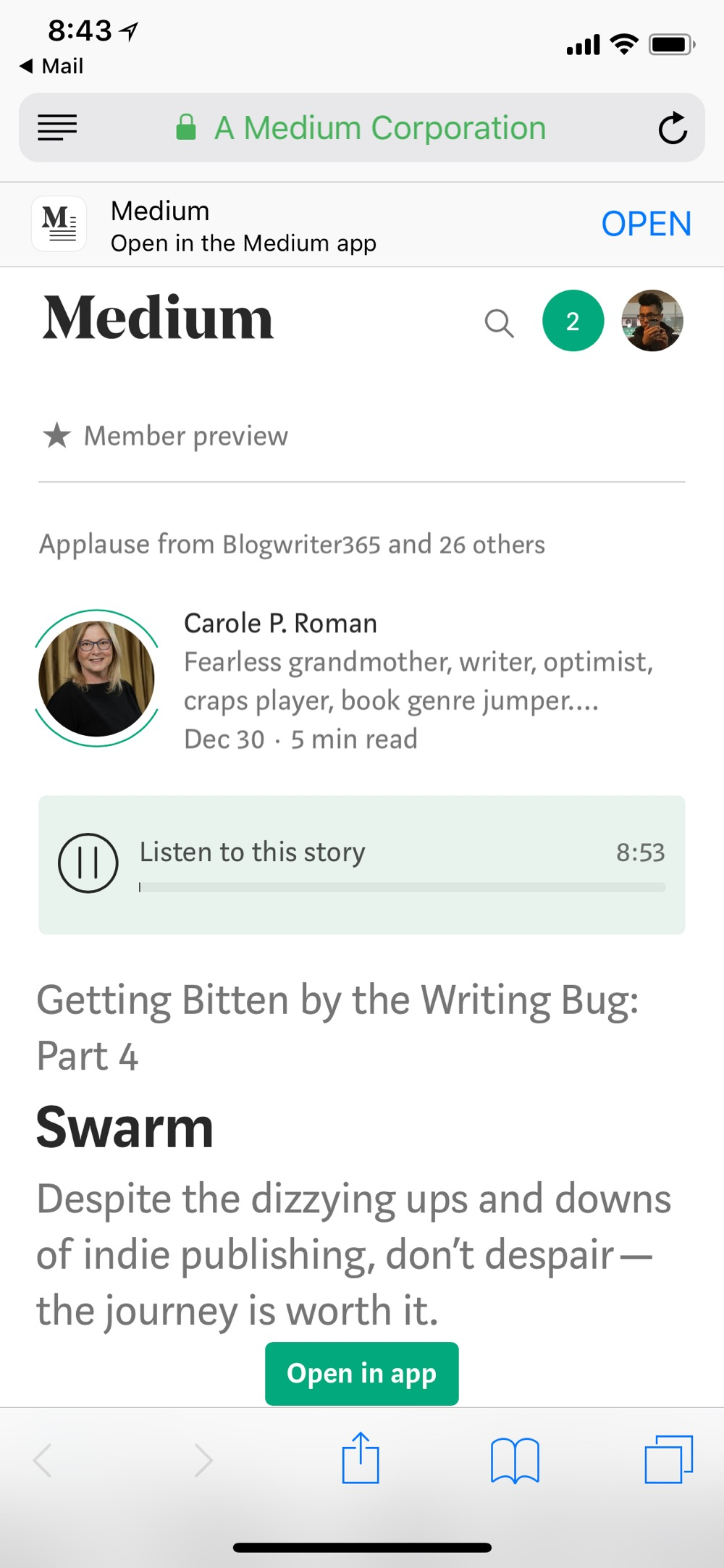 Does Medium come with audio narrationnow?