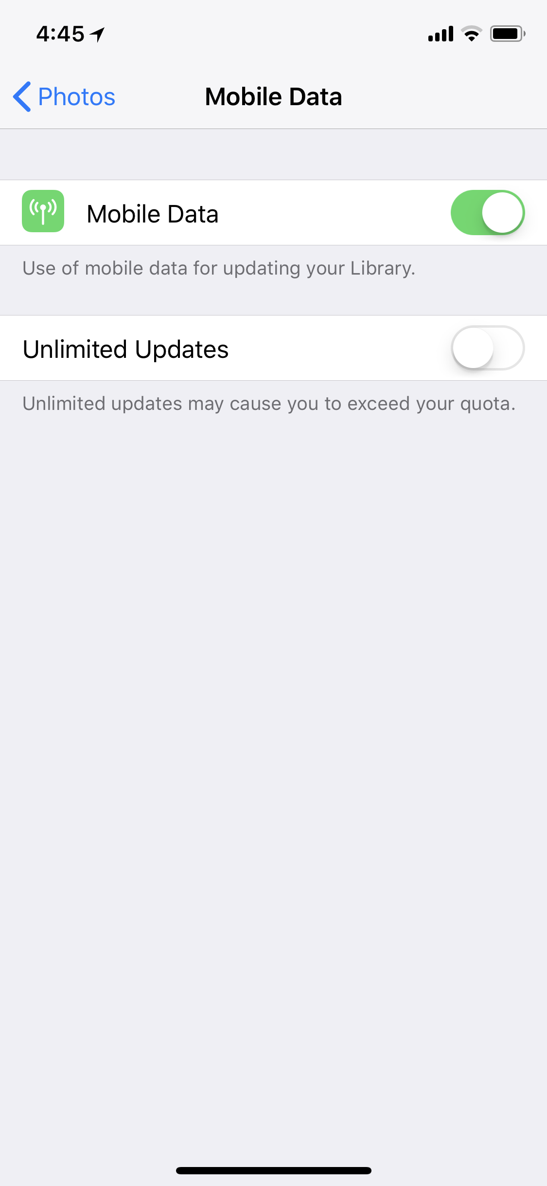 Wondering what not-unlimited updates means.