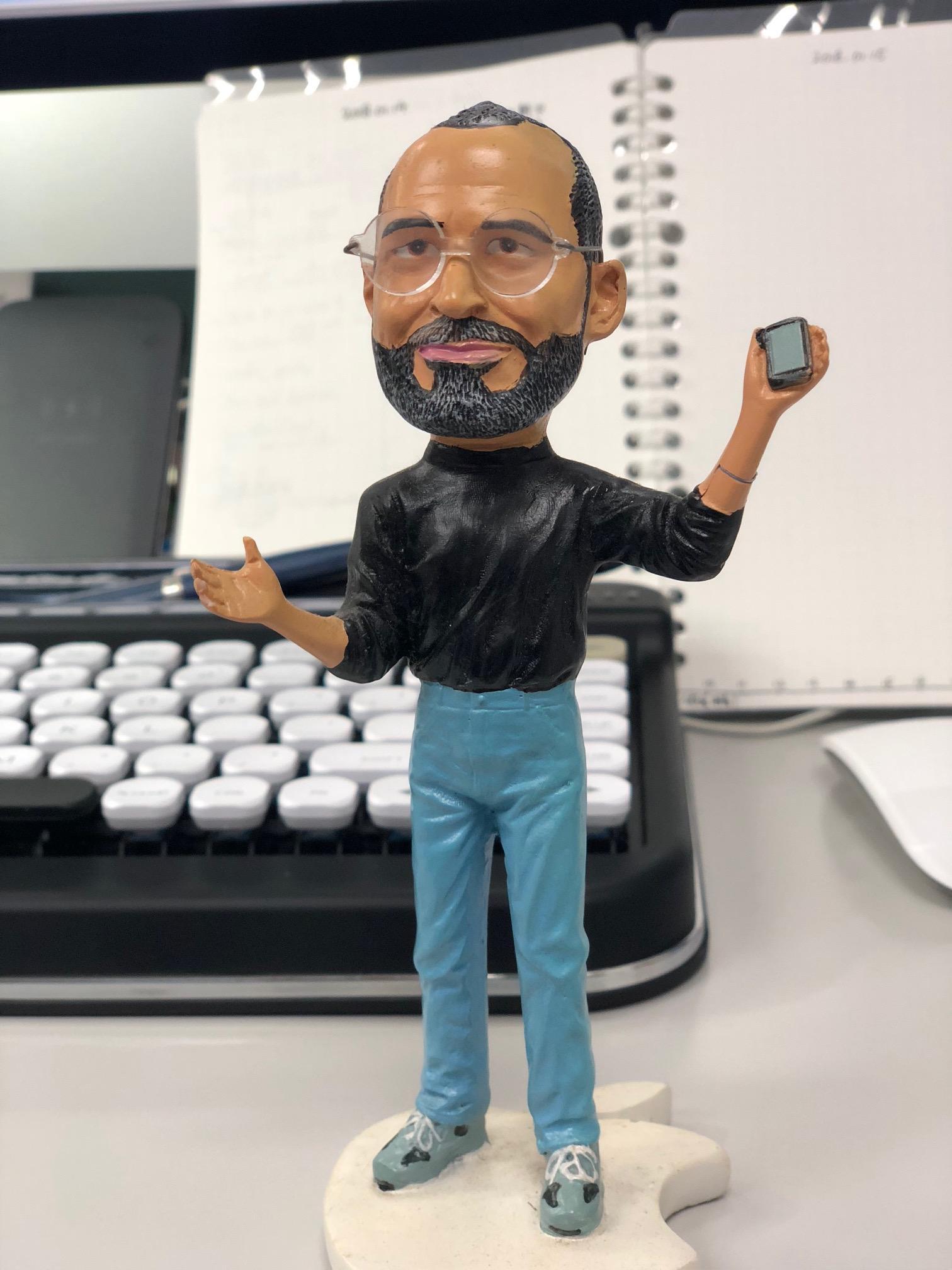 My Steve Jobs figure isback.