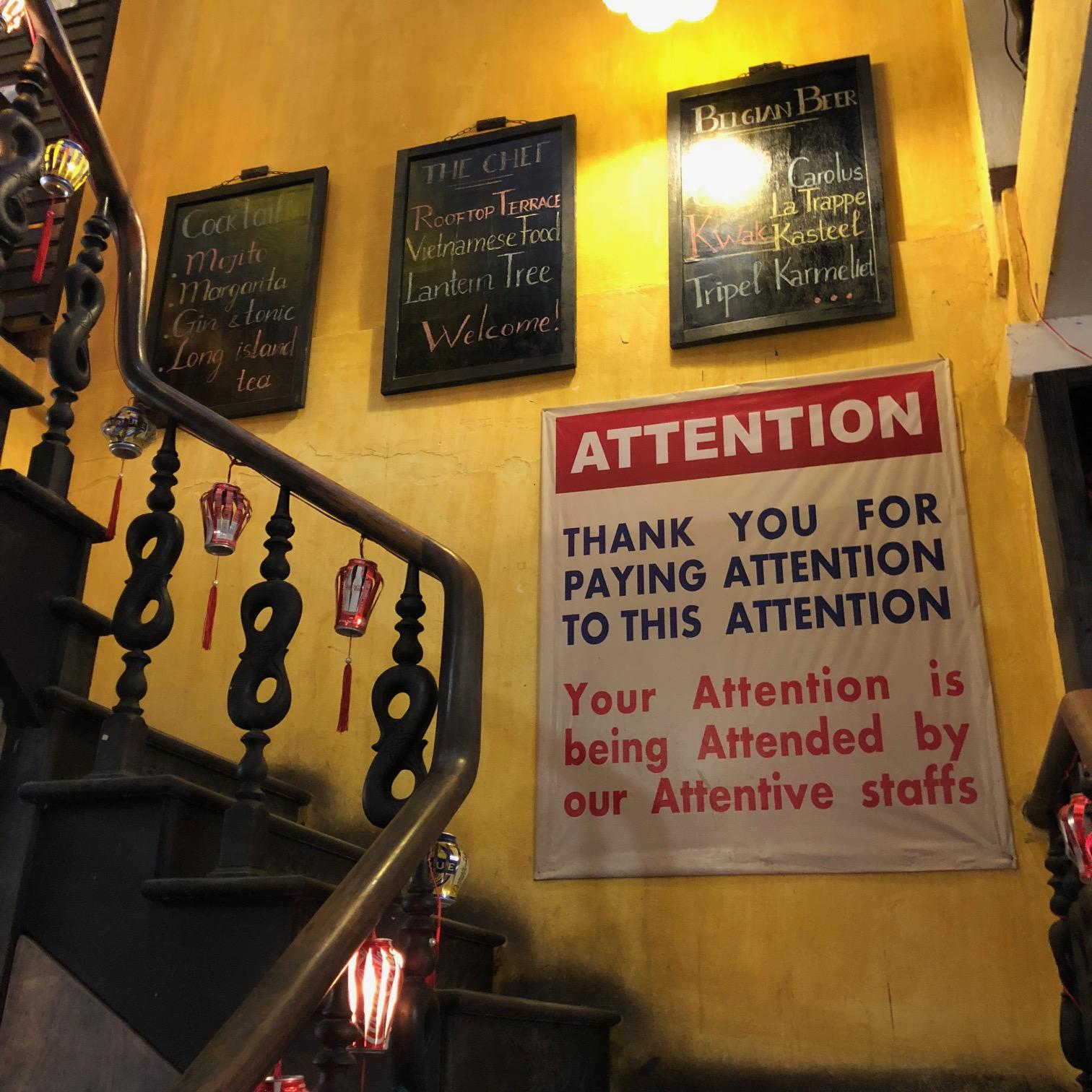 Funny banner: Thank you for paying attention
