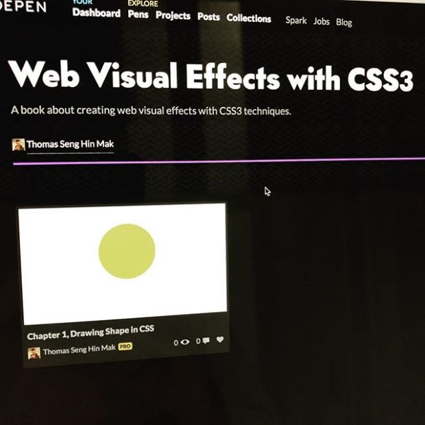 Created a collection on Codepen dedicated for my upcoming CSS3 book.