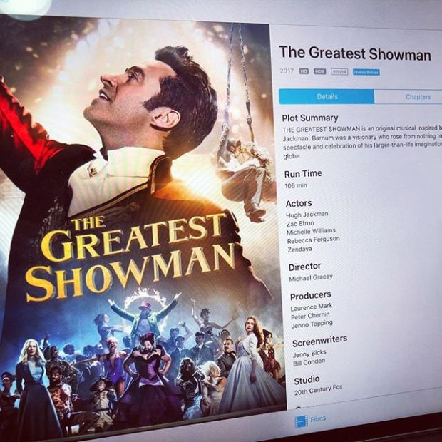Bought the Greatest Showman movie after watching it on plane.