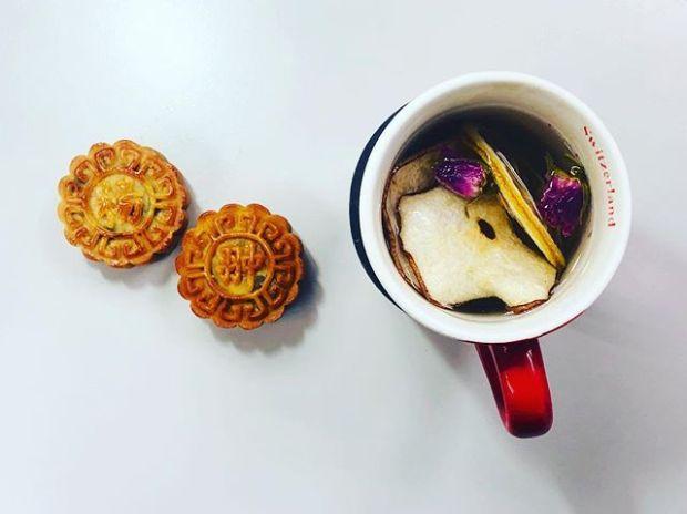 娜菲揚翀月餅配果茶