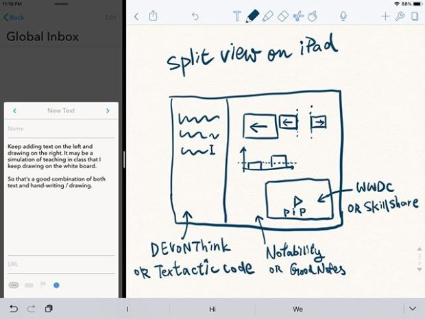 How I type and draw on the iPad.