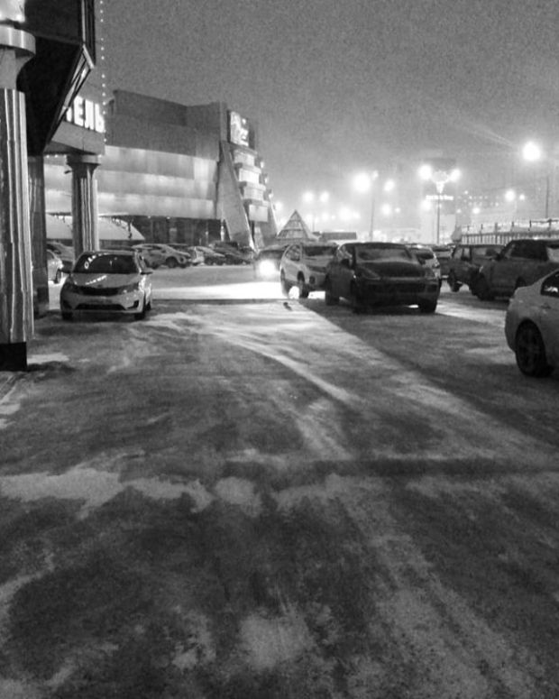 So cold outside in Kazan.