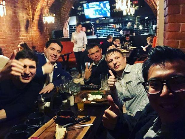 Most wonderful night this week in Kazan. Thanks my friends.