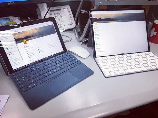 When both iPad and Surface sits together, I use the Surface.