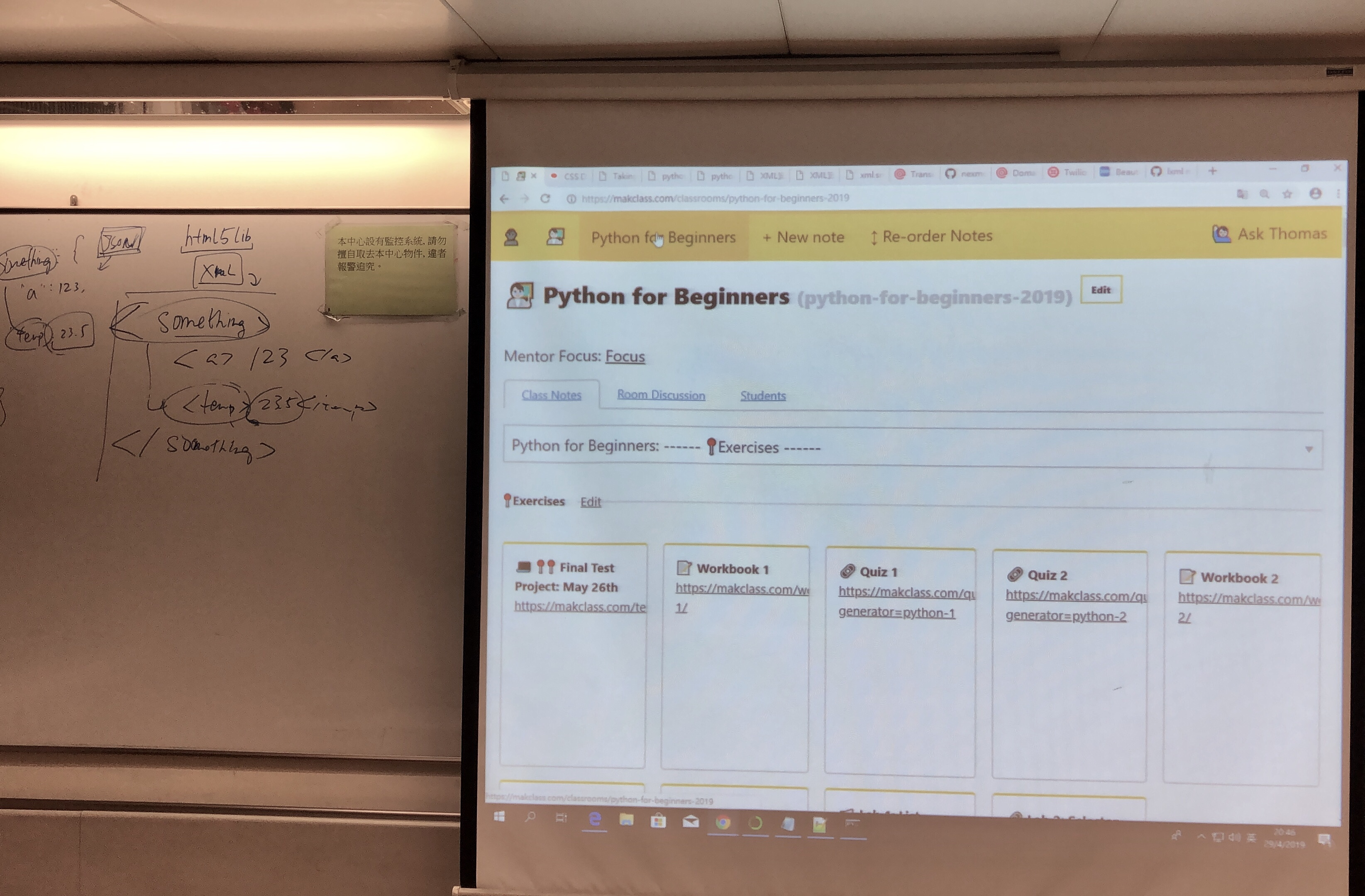 Teaching web scrapping withPython.
