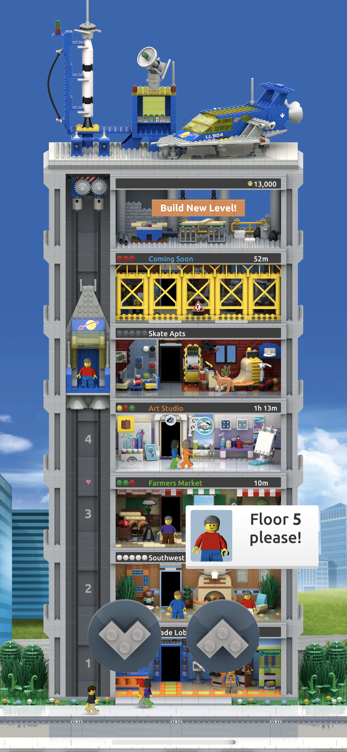 Playing LEGO tower
