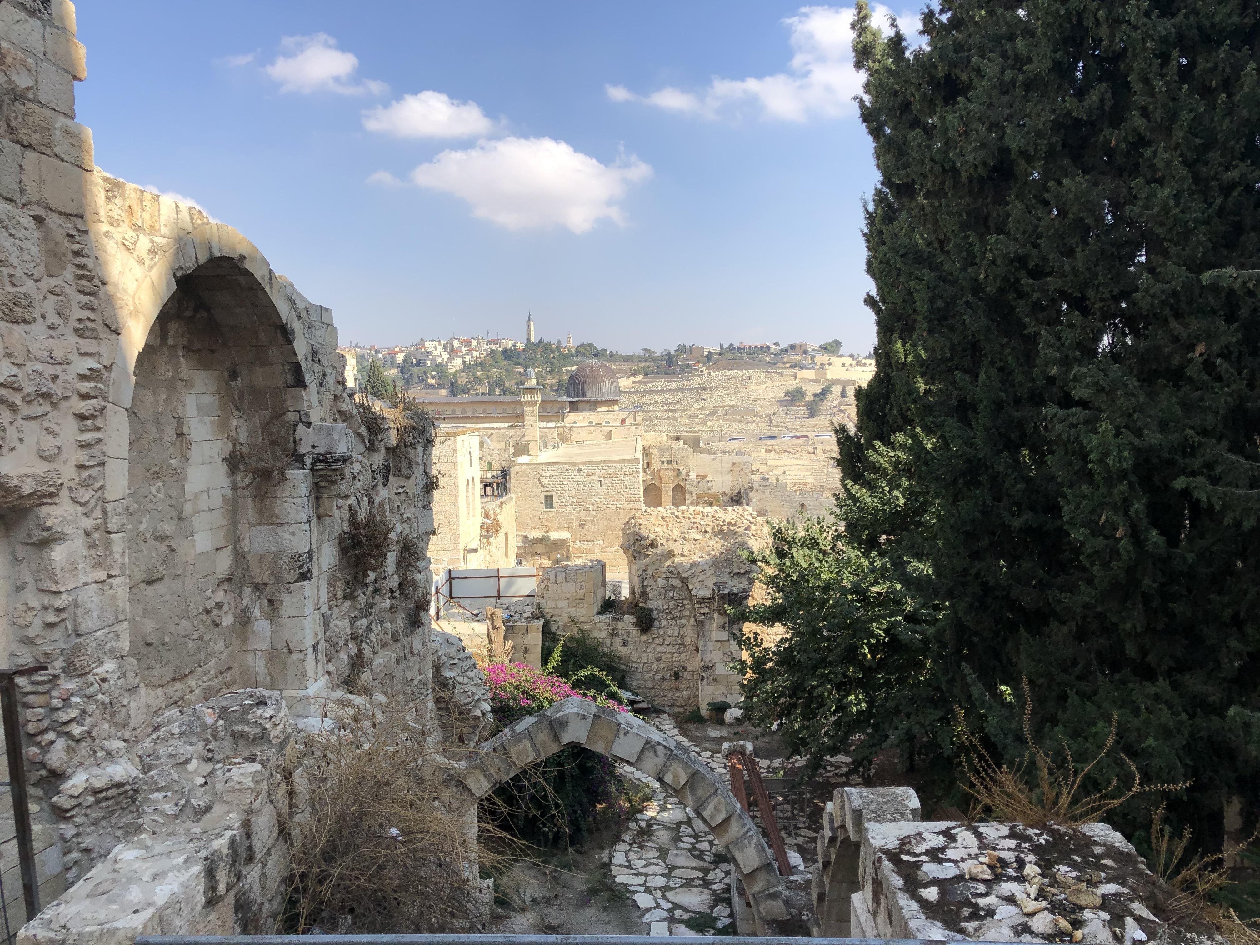 Touring in Jerusalem.